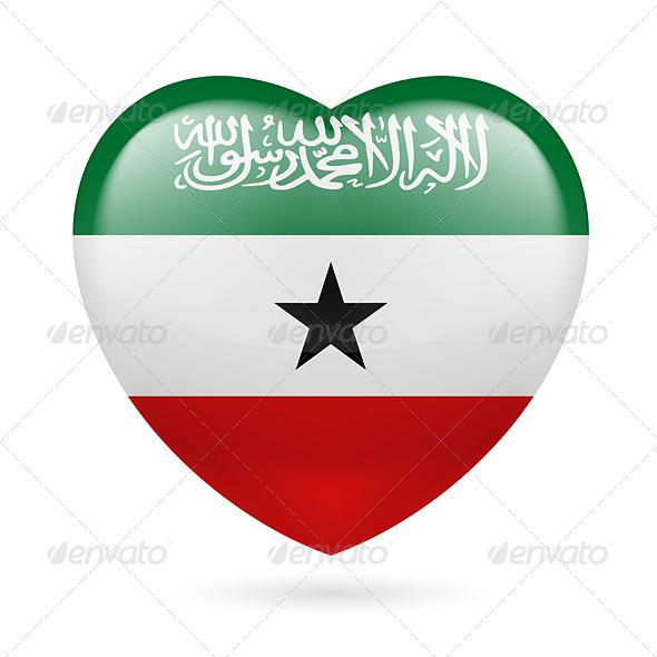 Heart icon of Somaliland - Miscellaneous Vectors