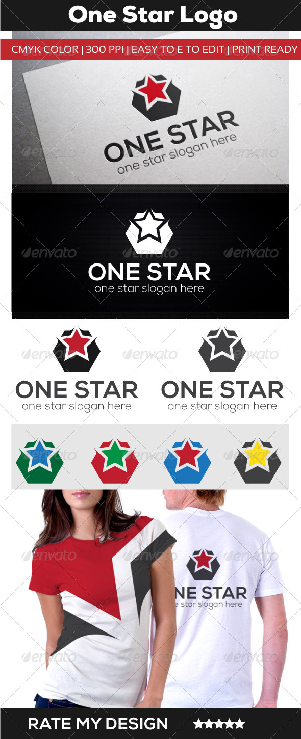 One Star Hotel - Food Logo Templates