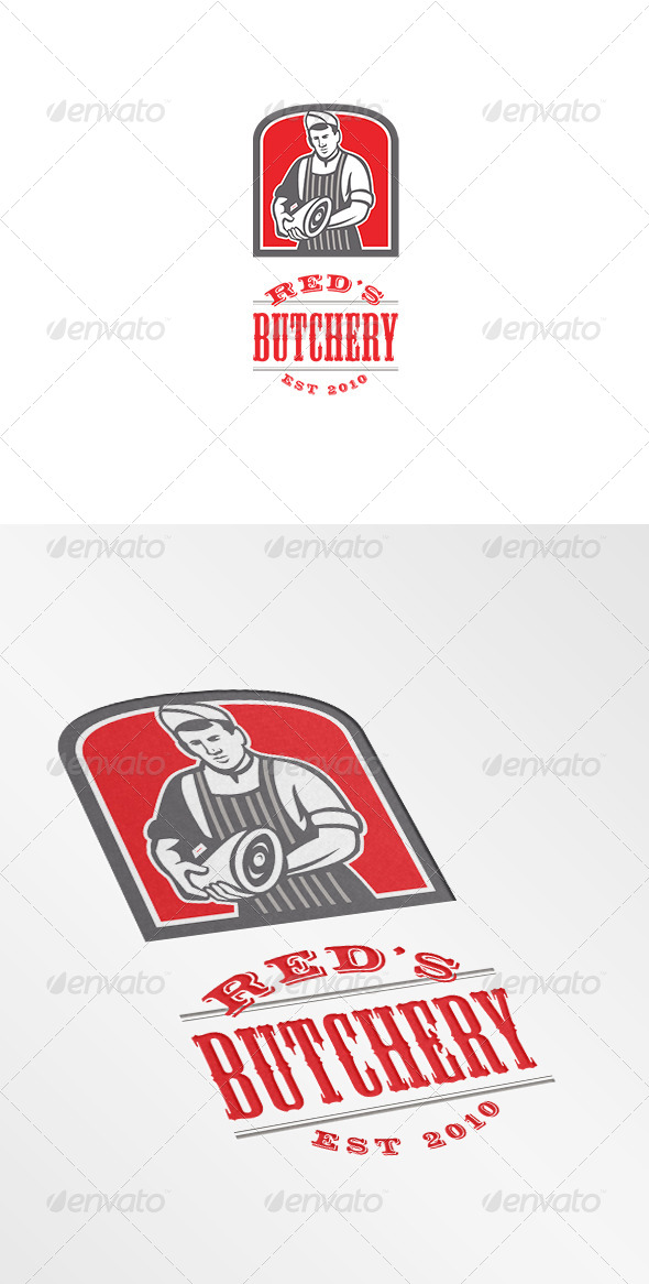 Red's Butchery Logo - Humans Logo Templates