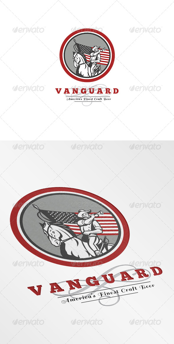 Vanguard Americas Finest Craft Beer Logo - Humans Logo Templates