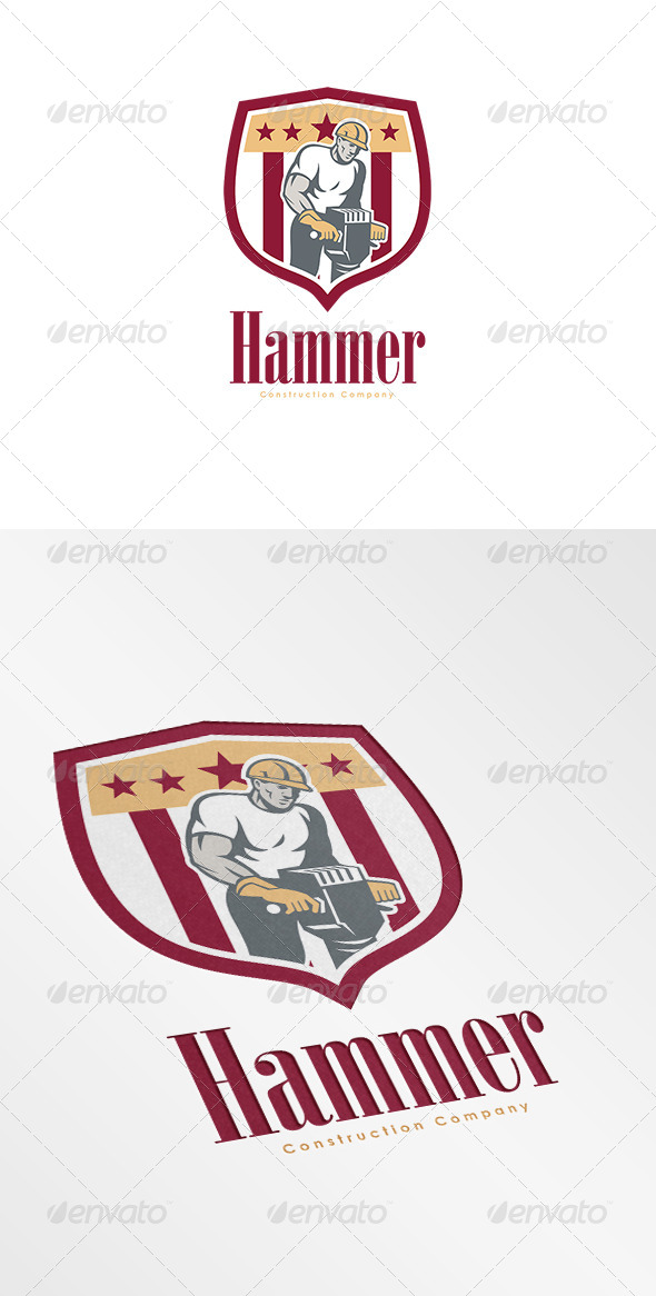Hammer Construction Company Logo - Humans Logo Templates