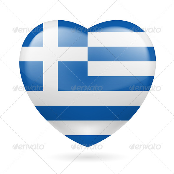 Heart Icon of Greece - Miscellaneous Vectors
