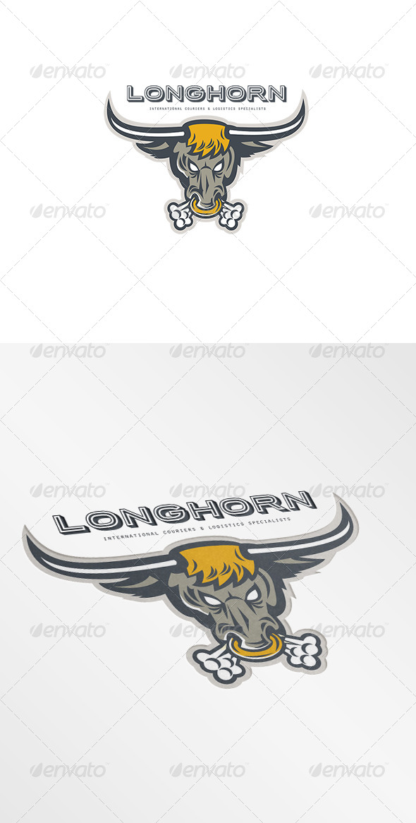 Longhorn Couriers and Logistics Specialist Logo - Humans Logo Templates