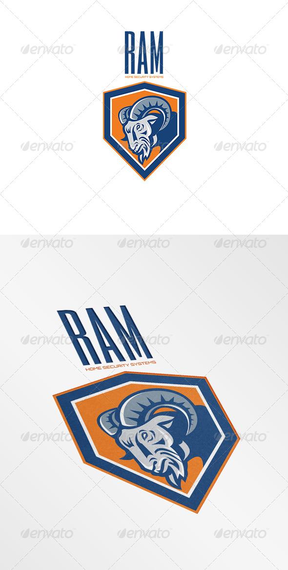 Ram Home Security Systems Logo - Animals Logo Templates