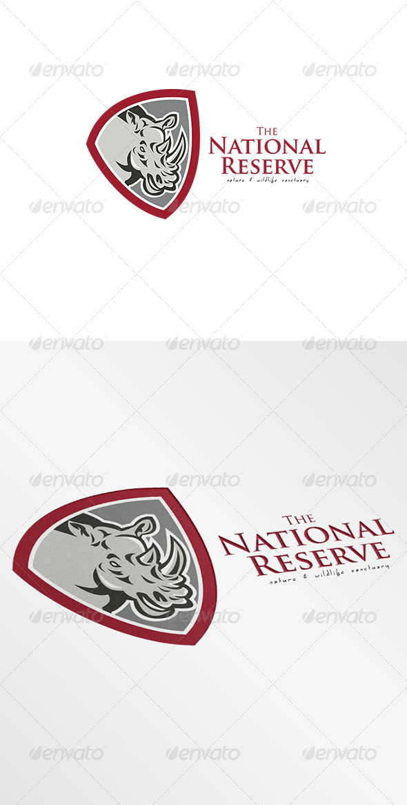 The National Reserve Nature Sanctuary Logo - Vector Abstract