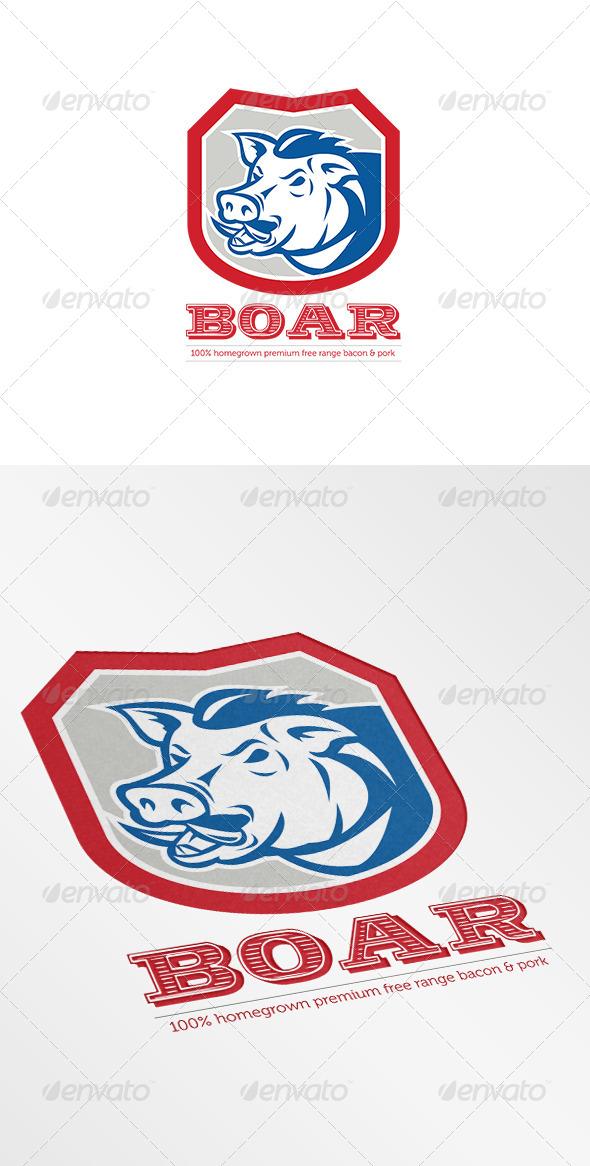 Wild Boar Free Range Logo - Animals Logo Templates