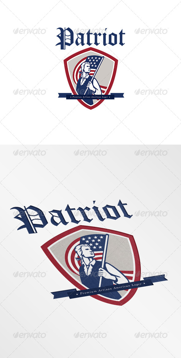 Patriot Premium American Lager Logo - Humans Logo Templates
