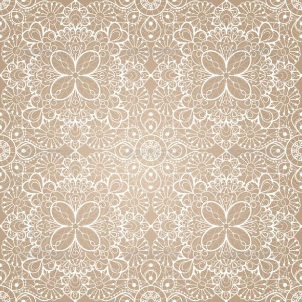 Seamless Lace Background - Backgrounds Decorative