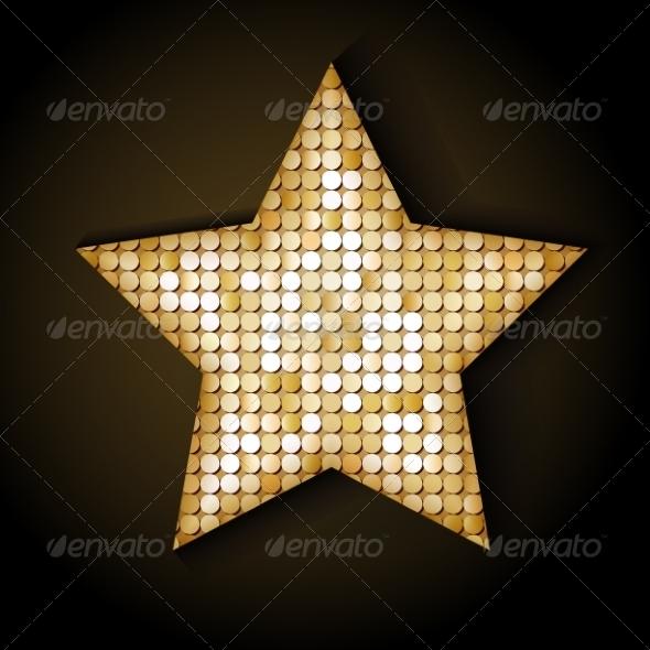 Shiny Sequins Star - Borders Decorative