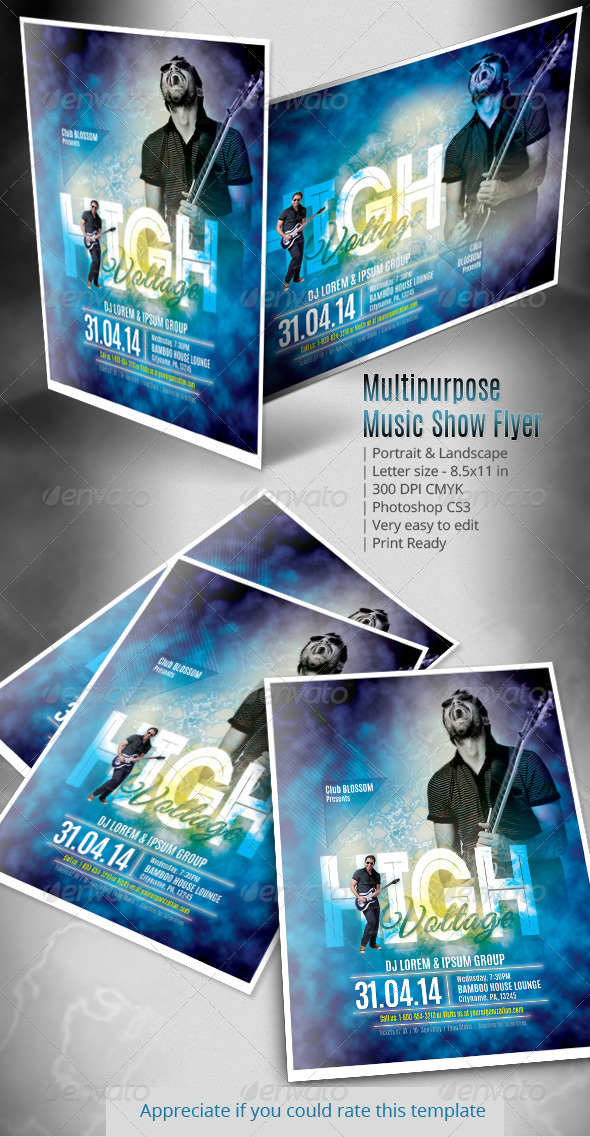 Multipurpose Music Show Flyer - Clubs & Parties Events