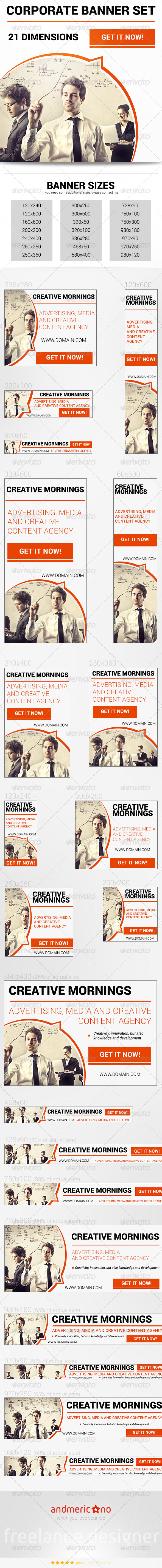 Corporate Banner Set - Banners & Ads Web Elements