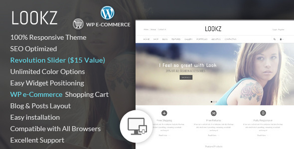 Lookz - Wordpress eCommerce Theme - WP e-Commerce eCommerce