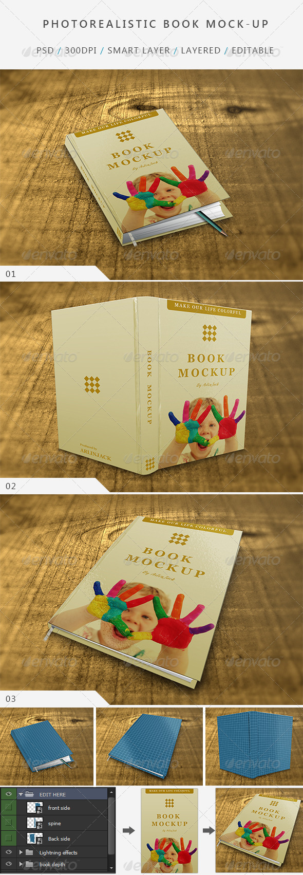 Photo realistic Book Mock-up - V:01 - Books Print