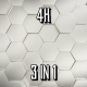 Silver Hexagons - VideoHive Item for Sale