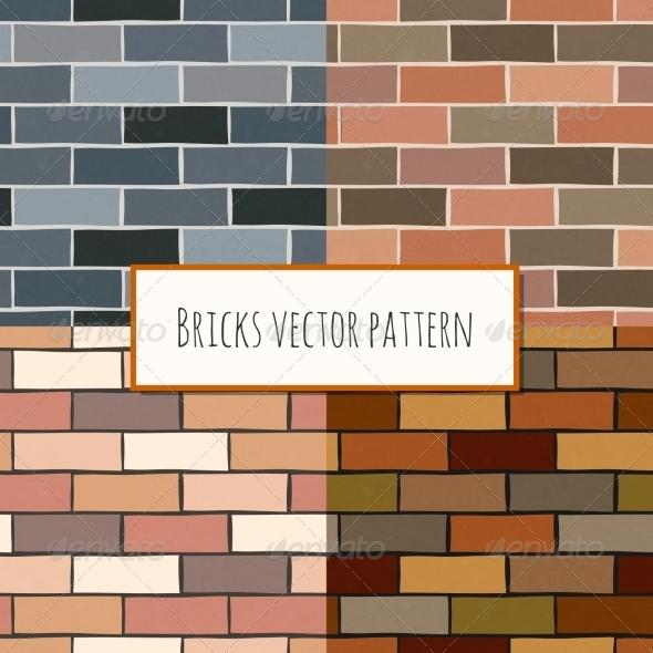 Seamless Brick Wall Rectangular Pattern - Backgrounds Decorative