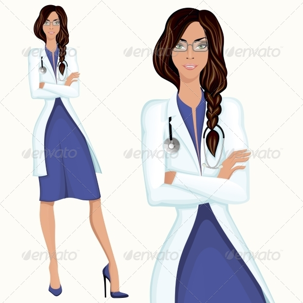 Young Woman Doctor - People Characters