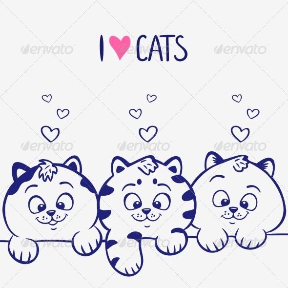 Three Kittens - Animals Characters