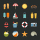 Summer Icons Vacation Icons - GraphicRiver Item for Sale