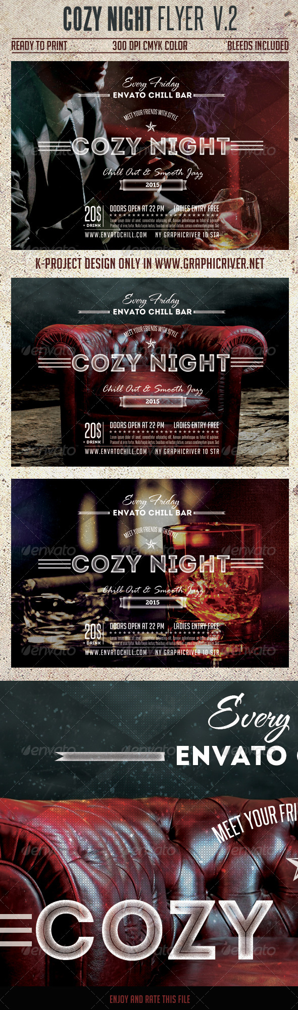 Cozy Night Flyer Vol.2 - Clubs & Parties Events