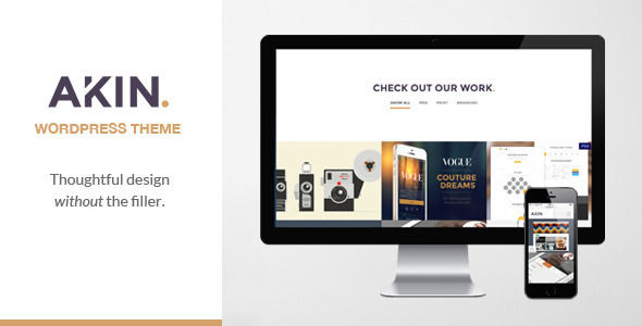 Akin – One Page Responsive WordPress Theme