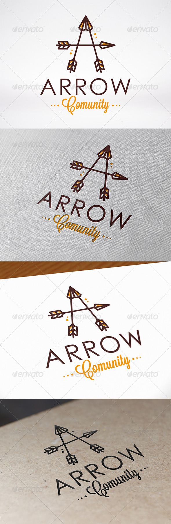 Arrow Letter A Logo Template - Letters Logo Templates