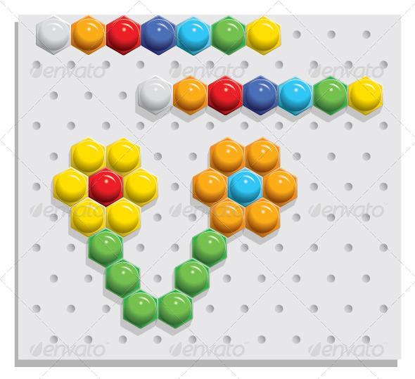 Mosaic Game - Vectors