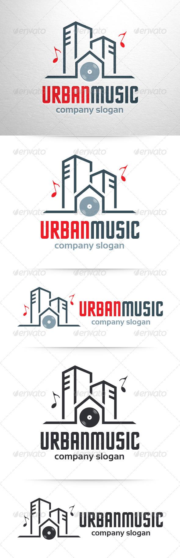 Urban Music Logo Template - Buildings Logo Templates