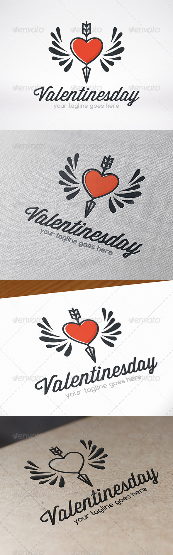 Valentines Day Logo Template - Symbols Logo Templates