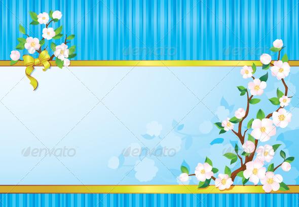 Spring Flower Background - Backgrounds Decorative