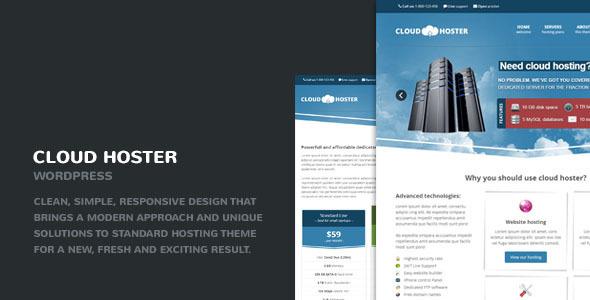 Cloud Hoster – Responsive Modern Hosting Theme