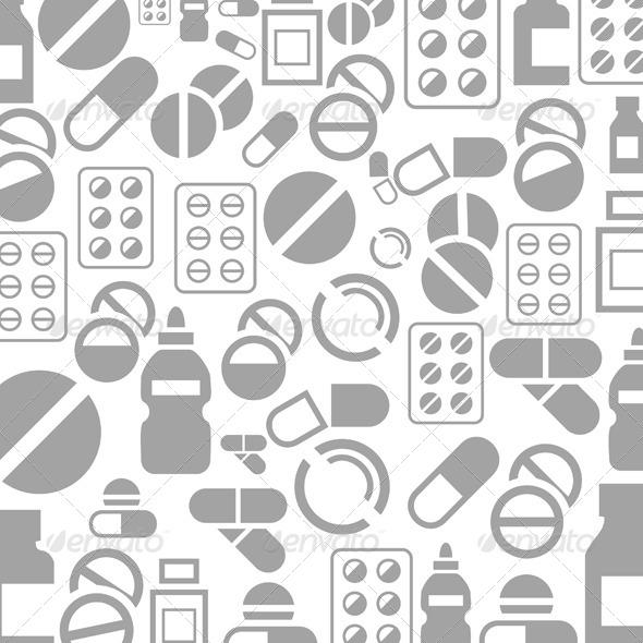 Tablet Background - Health/Medicine Conceptual