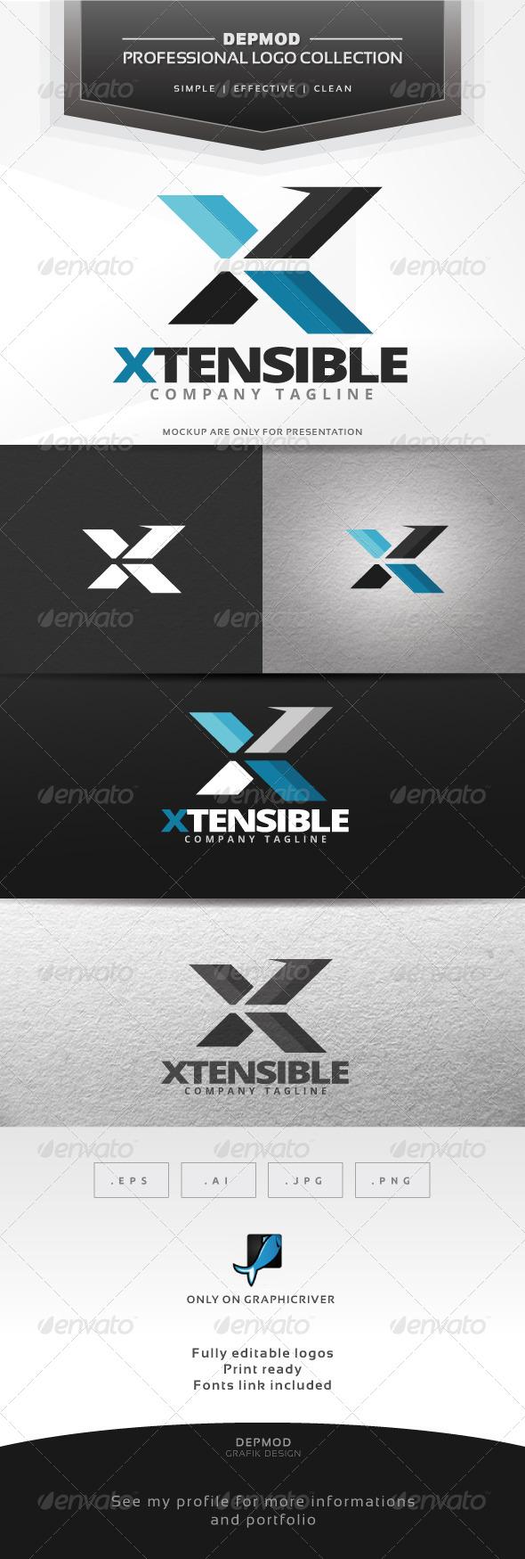 Xtensible Logo - Letters Logo Templates