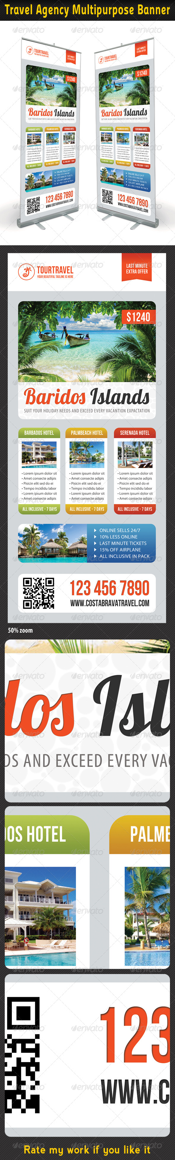 Travel Agency Banner Template 07 - Signage Print Templates