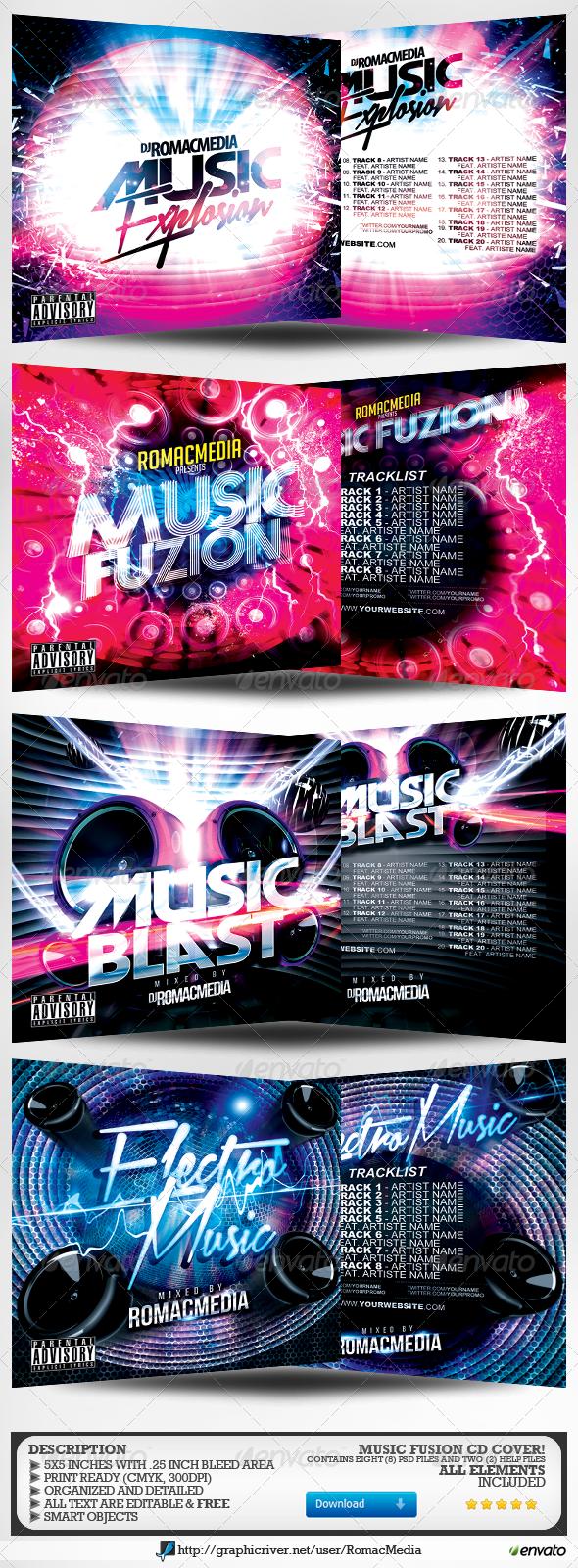 Music CD Cover Mega Bundle 1 - CD & DVD Artwork Print Templates