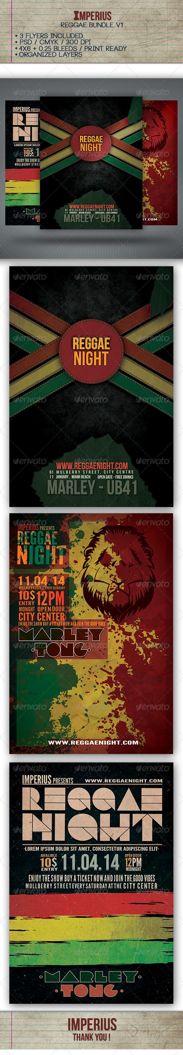 Reggae Bundle V1 - Flyers Print Templates