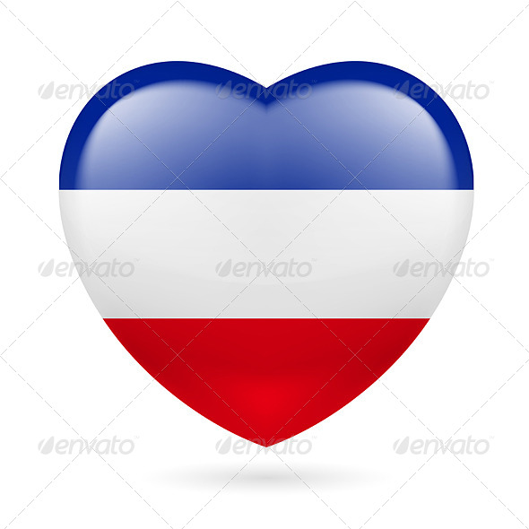 Heart Icon of Yugoslavia - Miscellaneous Vectors