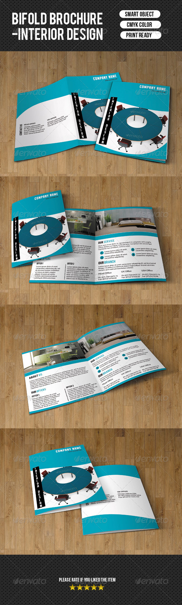 Minimal Bifold-Interior Design - Corporate Brochures