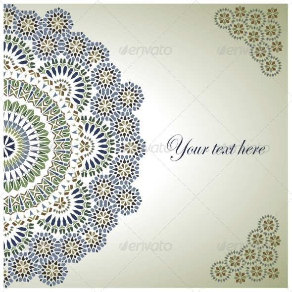 Vintage Background Traditional Ottoman motifs. - Backgrounds Decorative