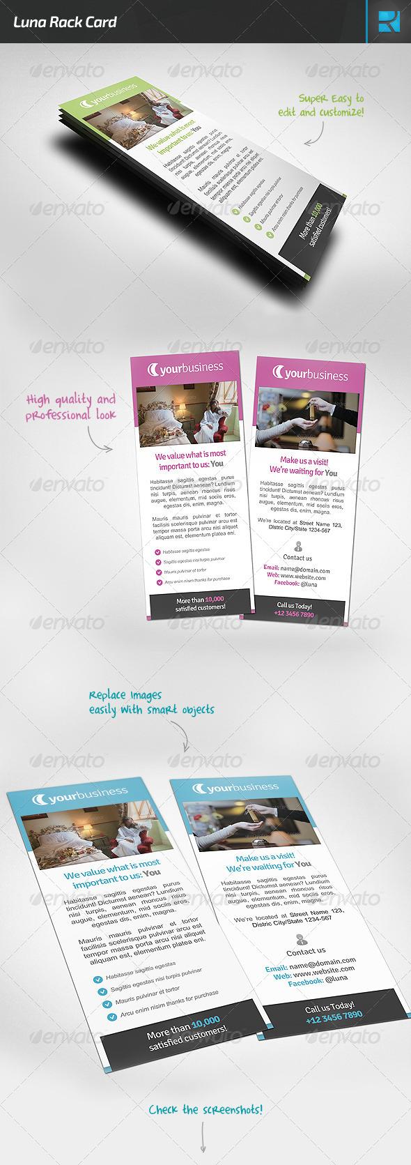 Luna Rack Card - Corporate Flyers