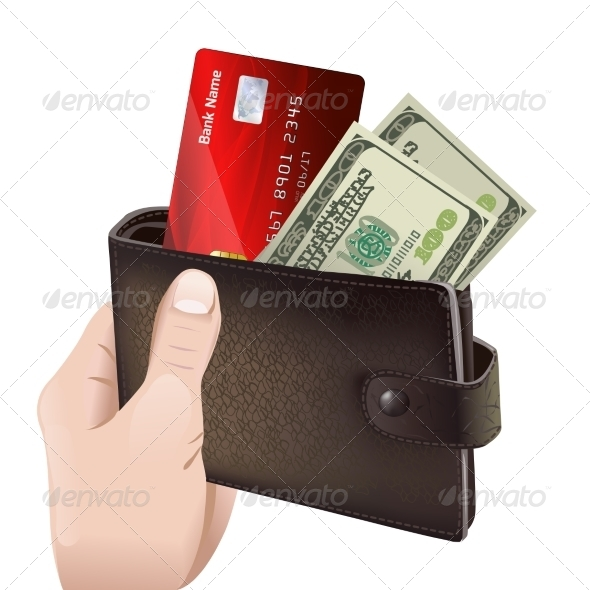 Hand Holding Classic Leather Wallet - Concepts Business