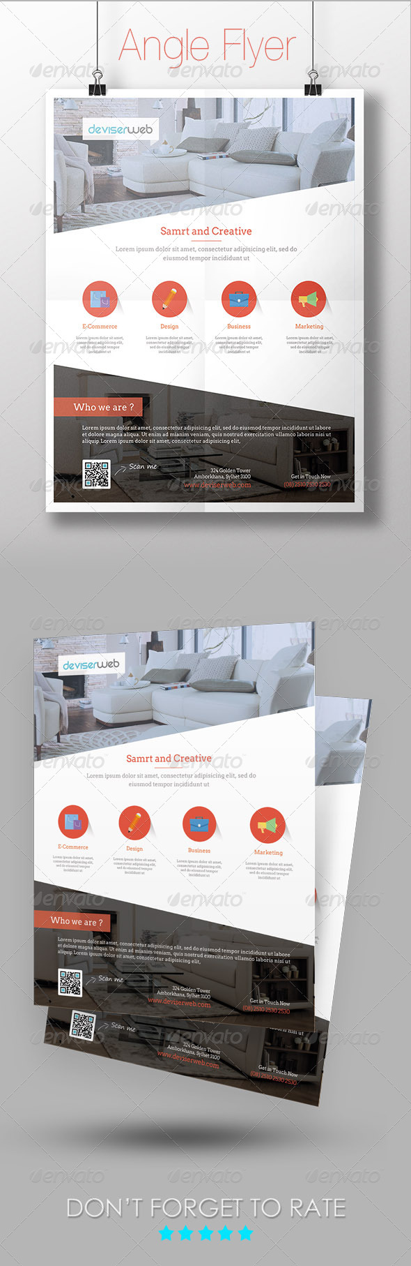 Angle Multipurpose Flyer Template - Corporate Flyers