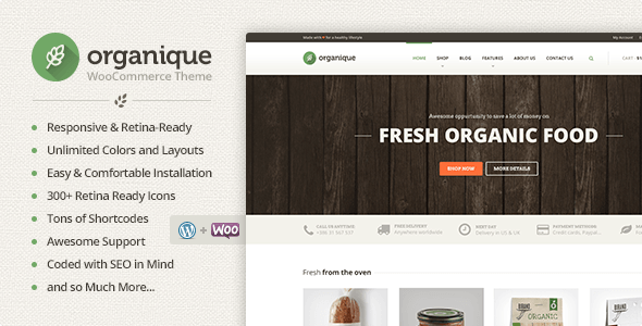 Organique – WordPress Theme For Healthy Food Shop