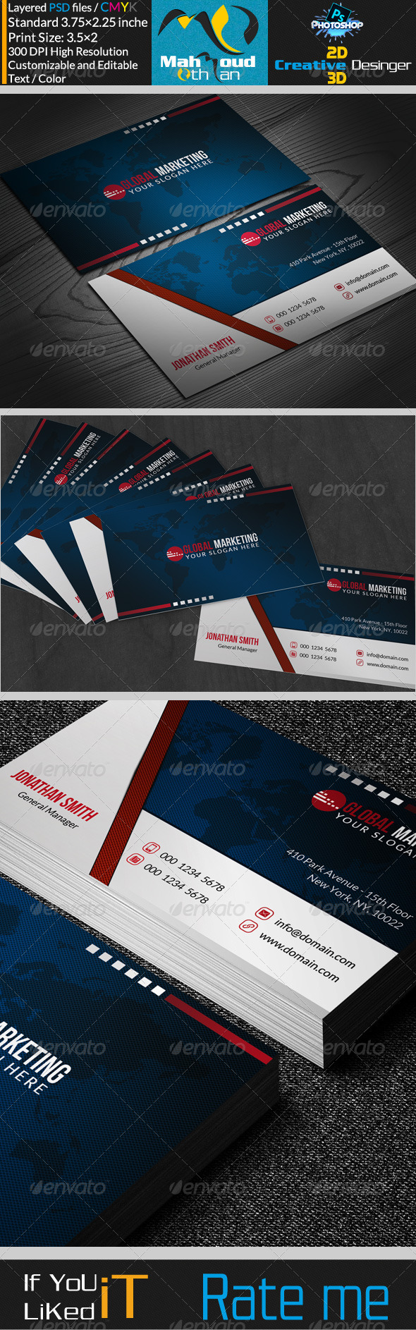 Corportae Business Card V09 - Corporate Business Cards
