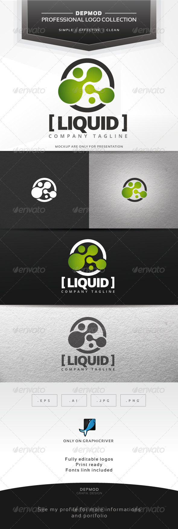 Liquid Logo - Abstract Logo Templates