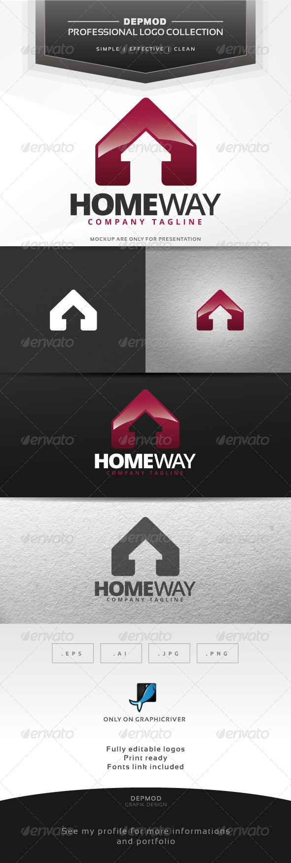 Home Way Logo - Buildings Logo Templates