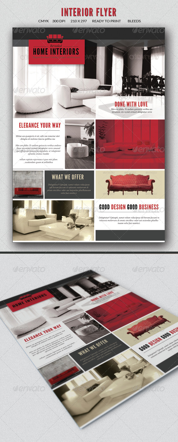 Interior design flyer by sz81 graphicriver for Interior design flyer