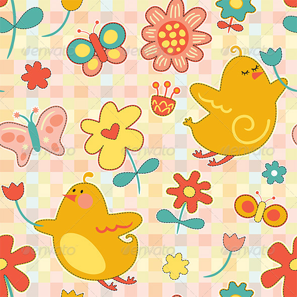 Repeat Spring Pattern - Patterns Decorative