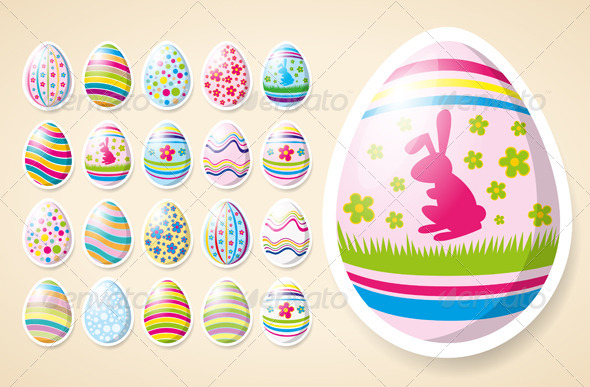 Vector Easter Eggs - Seasons/Holidays Conceptual