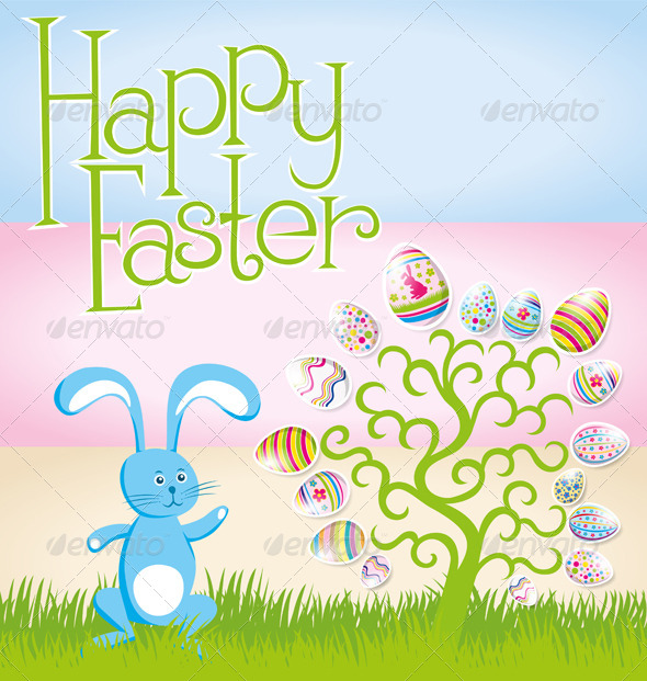 Vector Easter Card - Seasons/Holidays Conceptual
