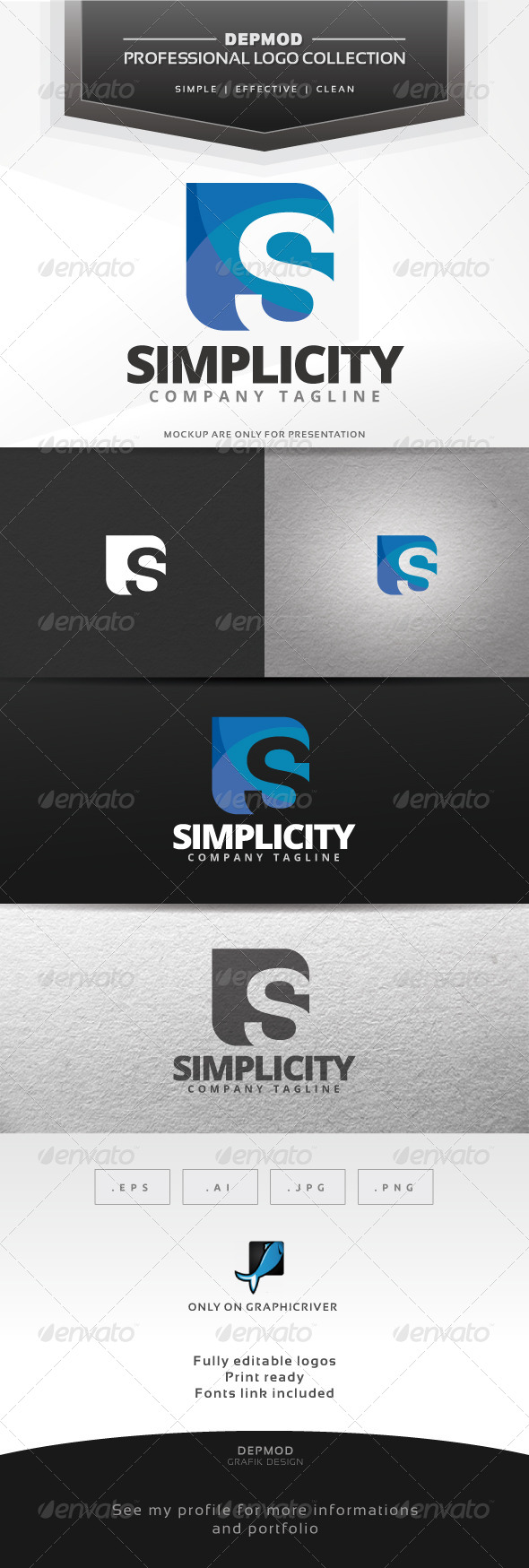 Simplicity Logo - Letters Logo Templates